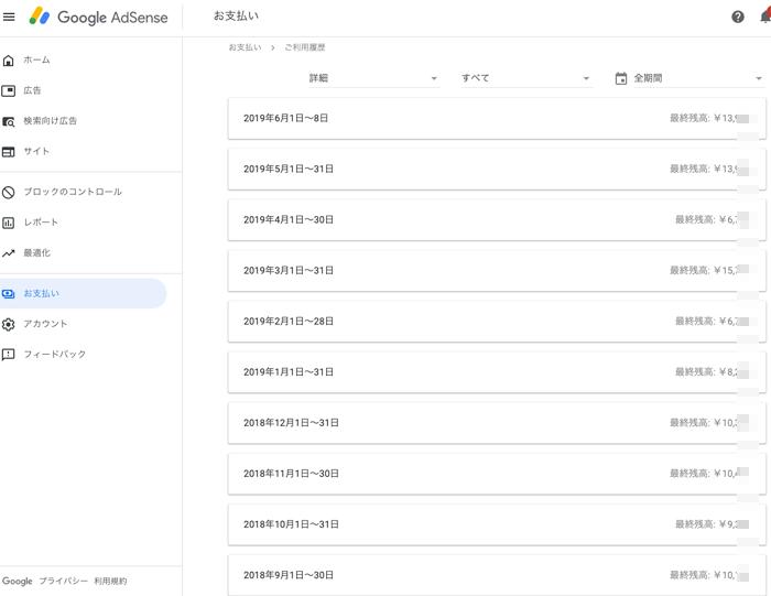 GoogleAdSense収益